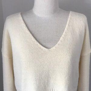 ASOS crop V neck sweater